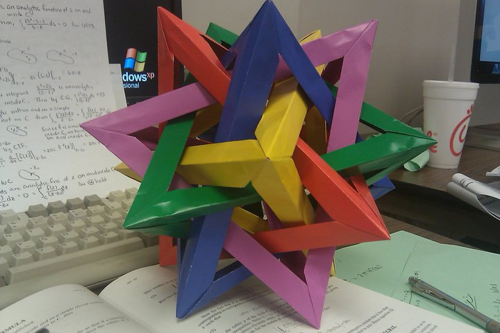 Paper model Great Stellated Dodecahedron | Paper models, Christmas ... | 480x720